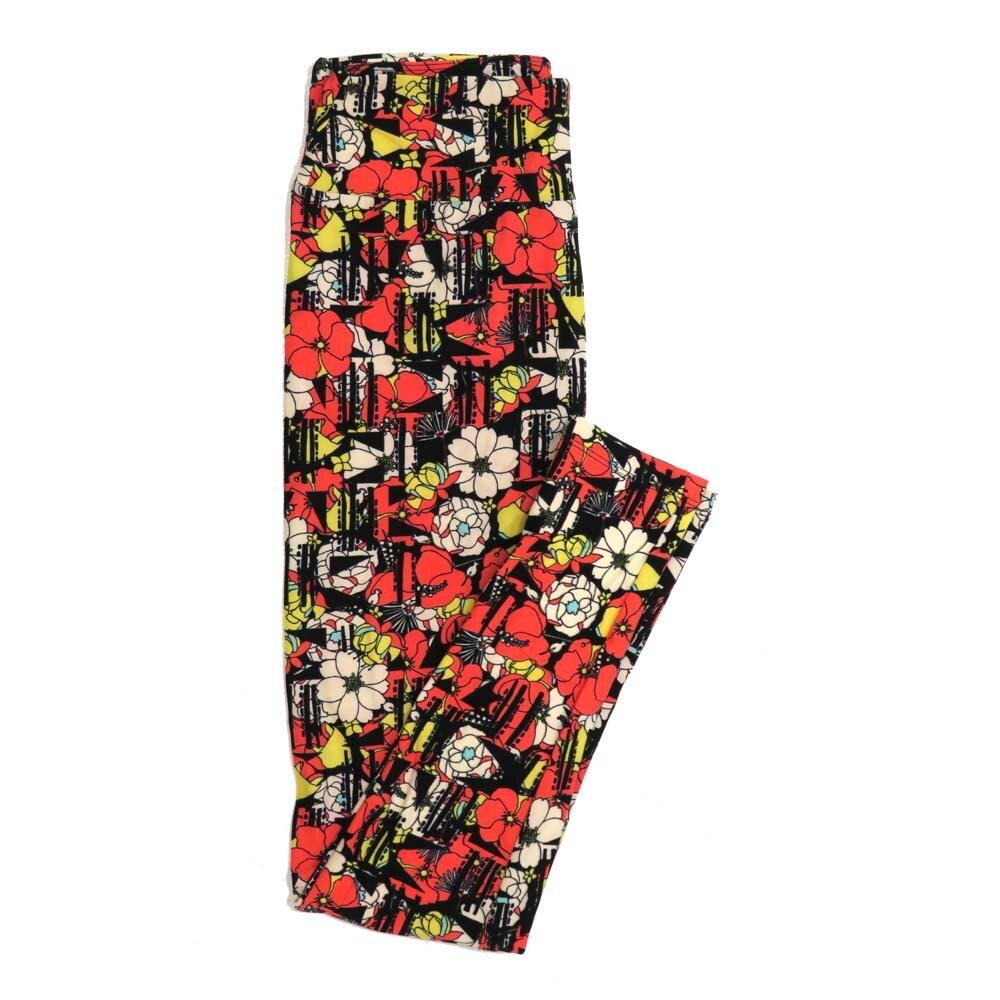 LuLaRoe One Size OS Floral Buttery Soft Womens Leggings fit Adult sizes 2-10  OS-4365-BJ