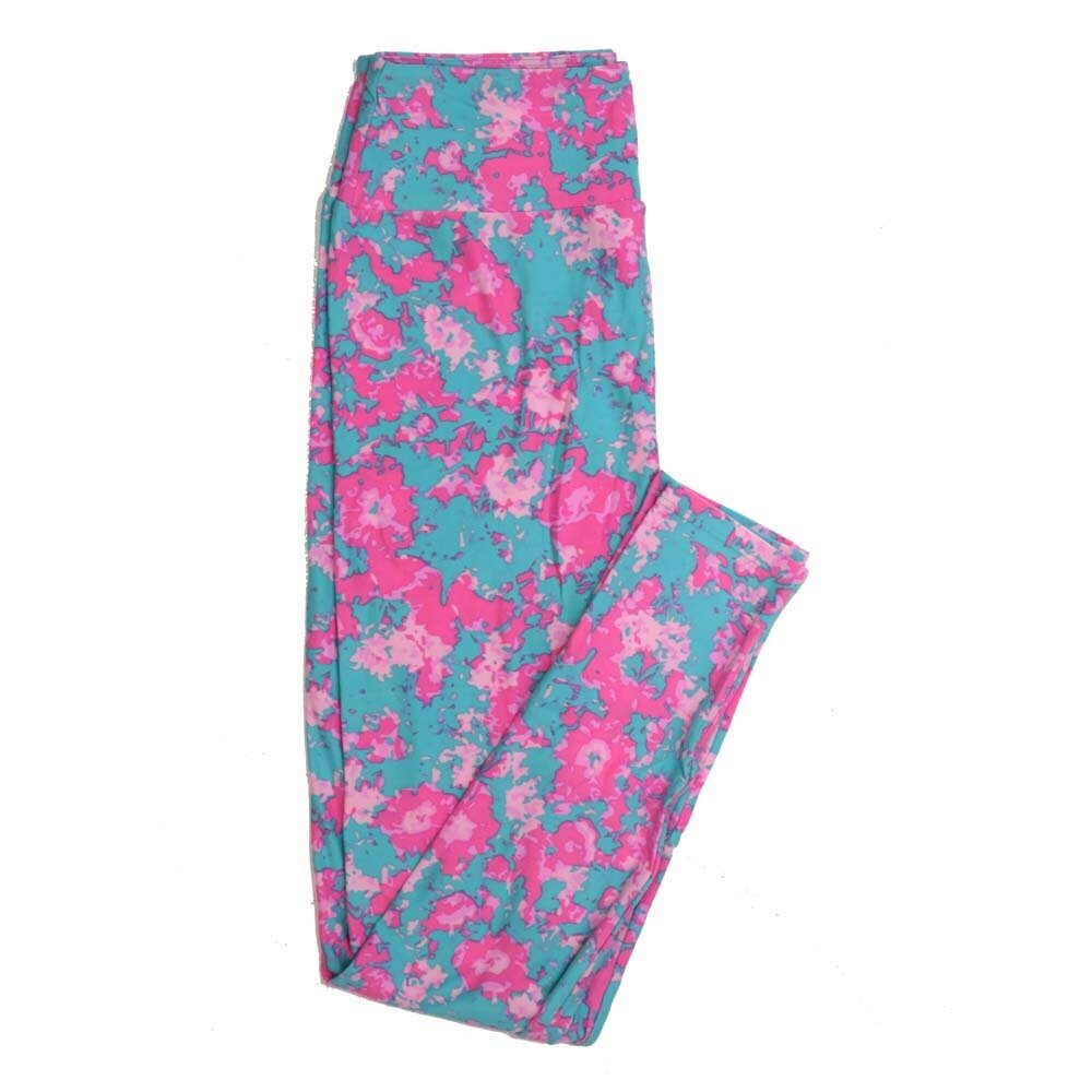 LuLaRoe One Size OS Floral Buttery Soft Womens Leggings fit Adult sizes 2-10  OS-4365-BM