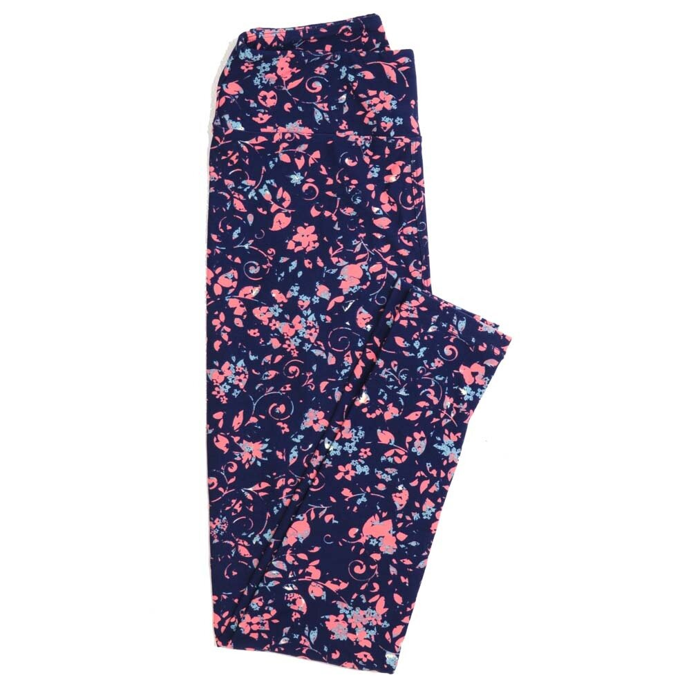 LuLaRoe One Size OS Floral Buttery Soft Womens Leggings fit Adult sizes 2-10  OS-4366-AI