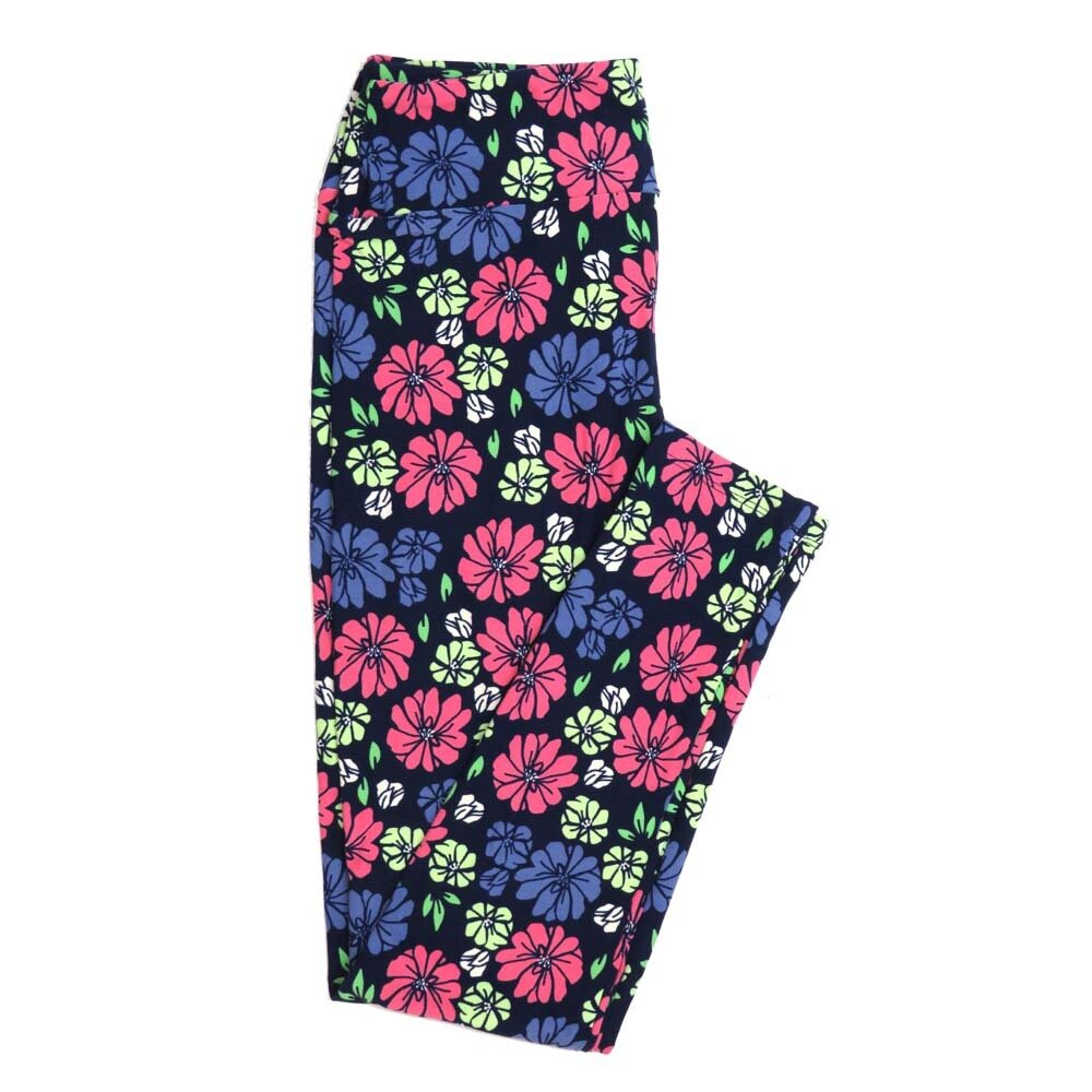 LuLaRoe One Size OS Floral Buttery Soft Womens Leggings fit Adult sizes 2-10  OS-4366-AJ