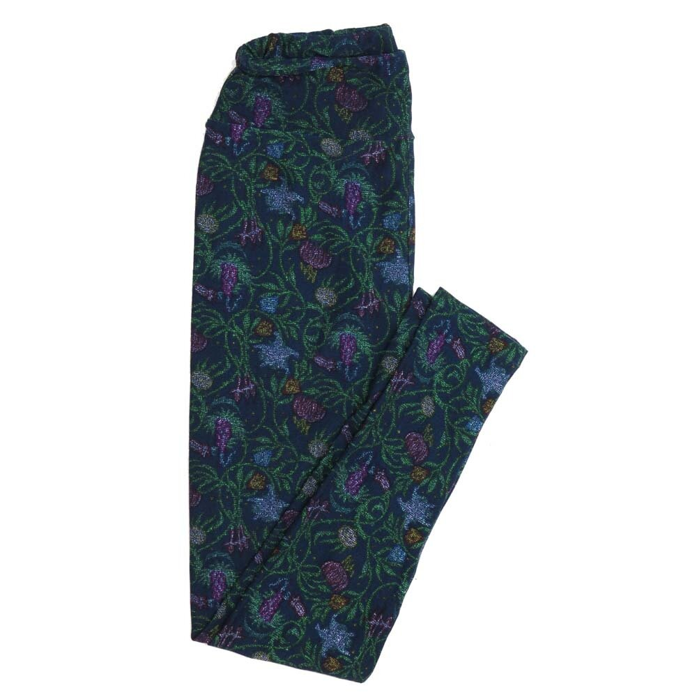 LuLaRoe One Size OS Floral Buttery Soft Womens Leggings fit Adult sizes 2-10  OS-4366-AK