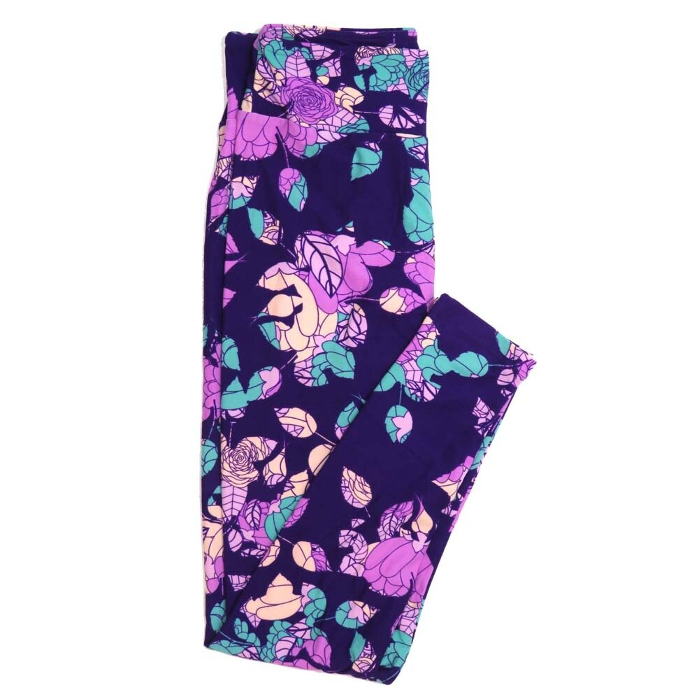 LuLaRoe One Size OS Floral Buttery Soft Womens Leggings fit Adult sizes 2-10  OS-4366-AM