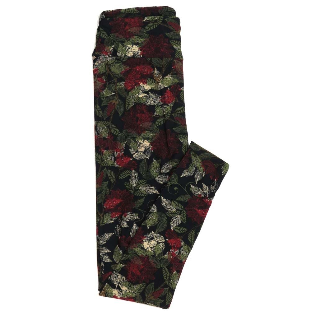 LuLaRoe One Size OS Floral Buttery Soft Womens Leggings fit Adult sizes 2-10  OS-4366-AP