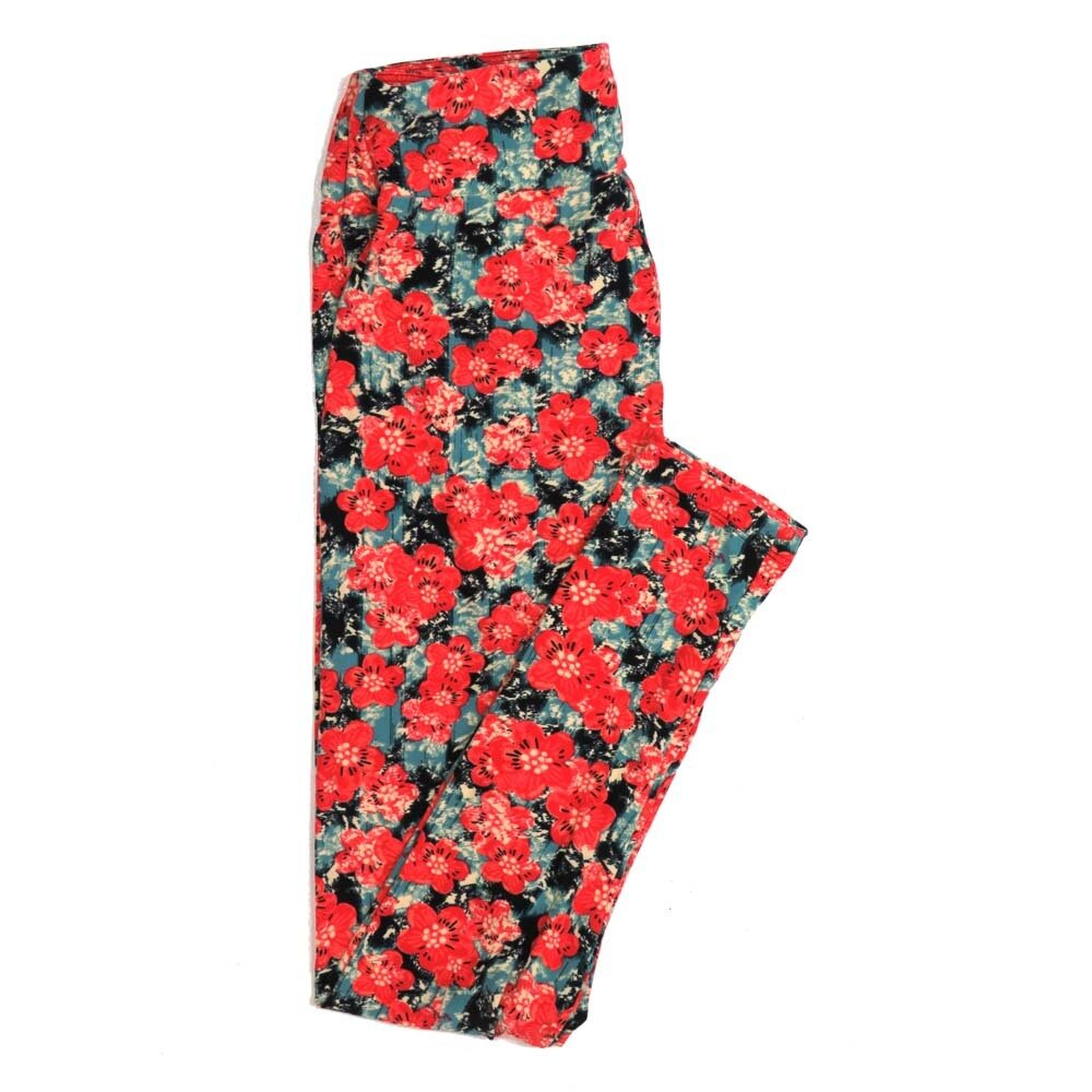 LuLaRoe One Size OS Floral Buttery Soft Womens Leggings fit Adult sizes 2-10  OS-4366-AT