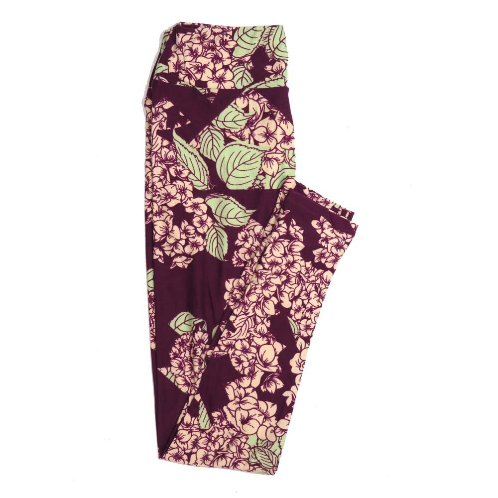 LuLaRoe One Size OS Floral Buttery Soft Womens Leggings fit Adult sizes 2-10  OS-4366-AY