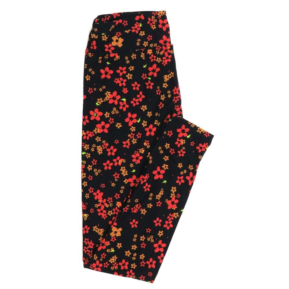 LuLaRoe One Size OS Floral Buttery Soft Womens Leggings fit Adult sizes 2-10  OS-4366-BG