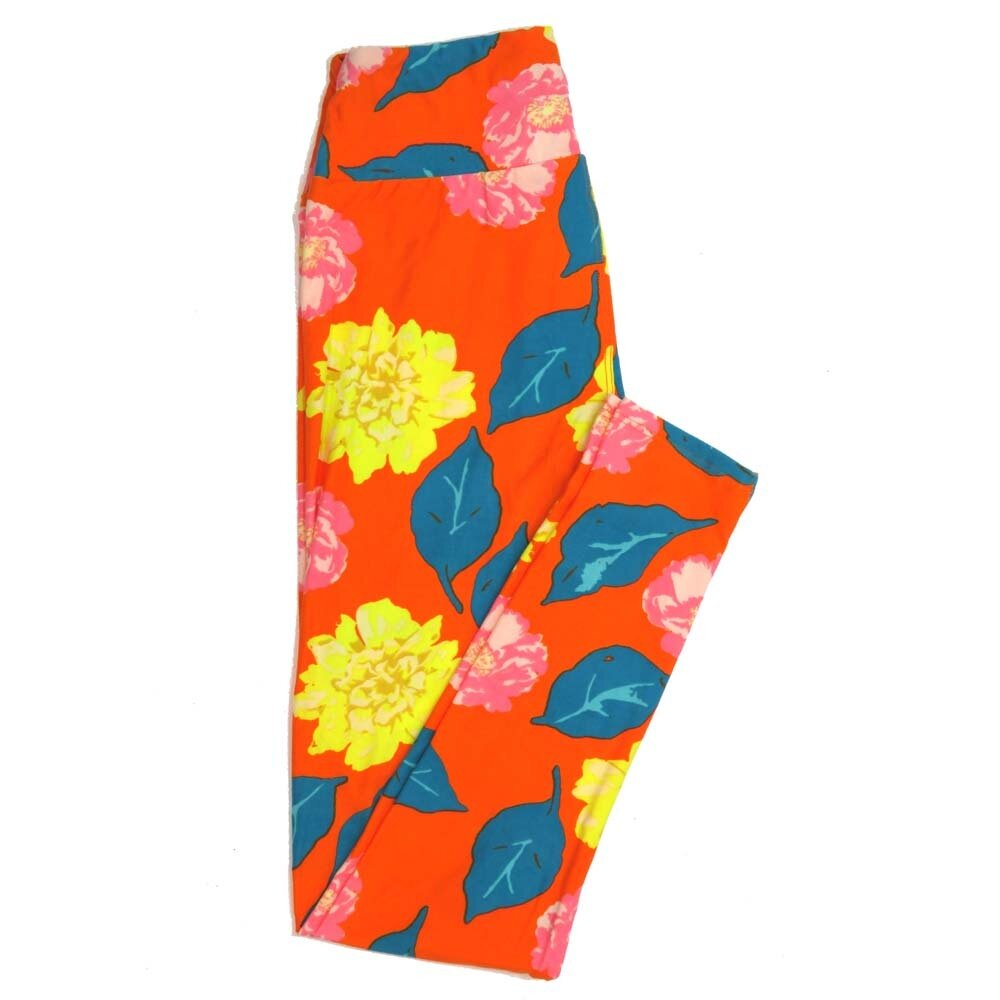 LuLaRoe One Size OS Floral Buttery Soft Womens Leggings fit Adult sizes 2-10  OS-4366-BM