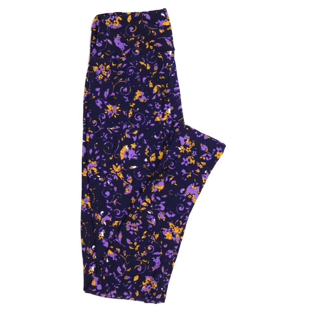 LuLaRoe One Size OS Floral Buttery Soft Womens Leggings fit Adult sizes 2-10  OS-4367-AP