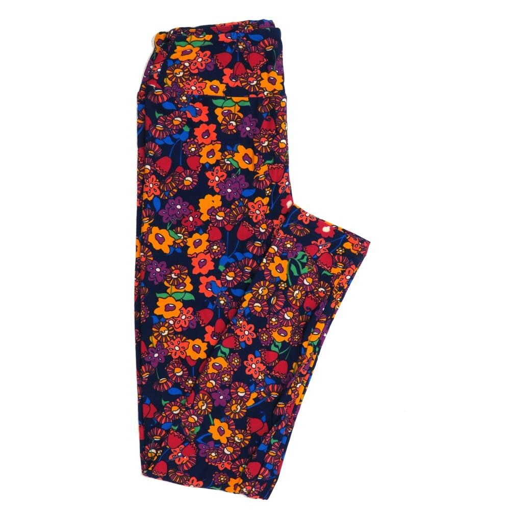 LuLaRoe One Size OS Floral Buttery Soft Womens Leggings fit Adult sizes 2-10  OS-4367-AR