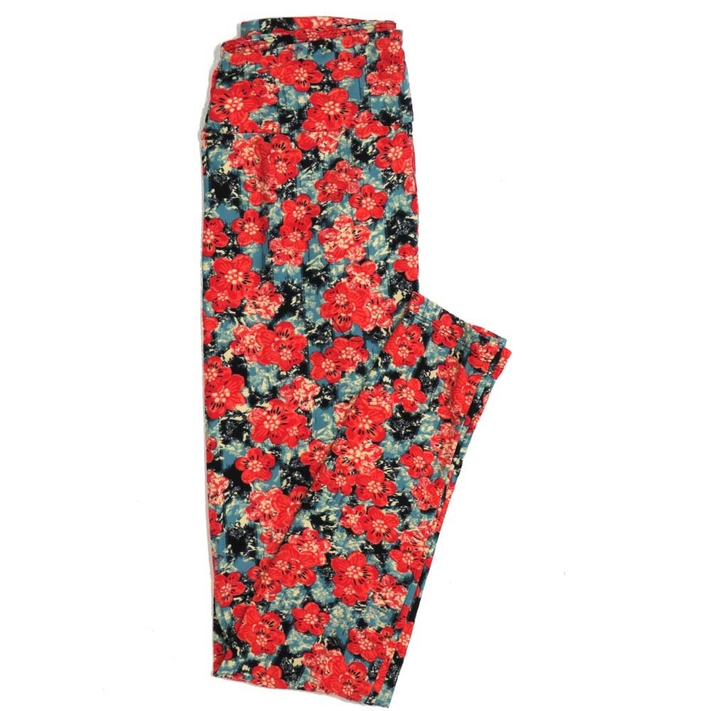 LuLaRoe One Size OS Floral Buttery Soft Womens Leggings fit Adult sizes 2-10  OS-4367-BG