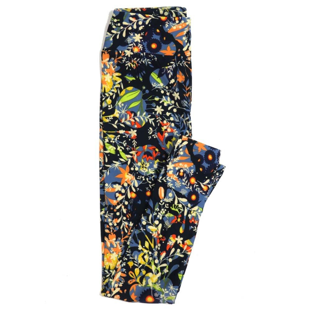 LuLaRoe One Size OS Floral Buttery Soft Womens Leggings fit Adult sizes 2-10  OS-4368-AA