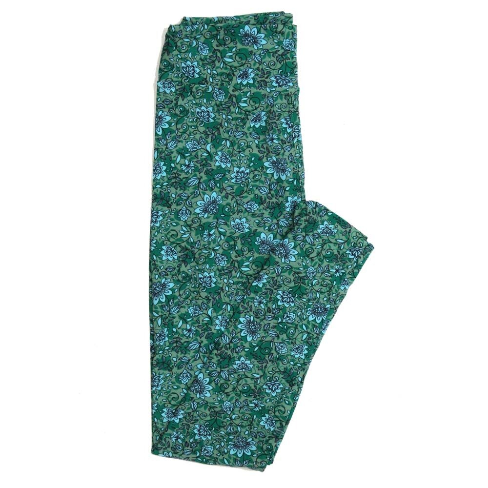 LuLaRoe One Size OS Floral Buttery Soft Womens Leggings fit Adult sizes 2-10  OS-4368-AD