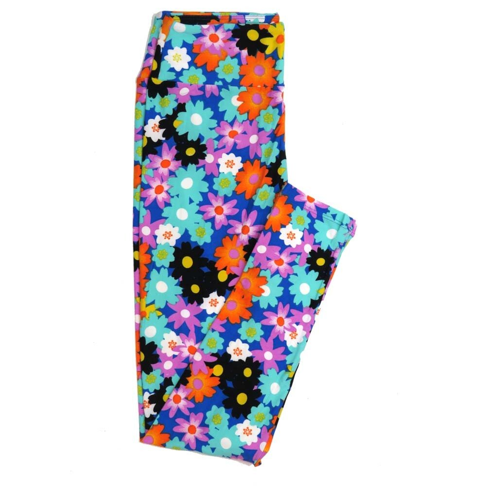 LuLaRoe One Size OS Floral Buttery Soft Womens Leggings fit Adult sizes 2-10  OS-4368-AI