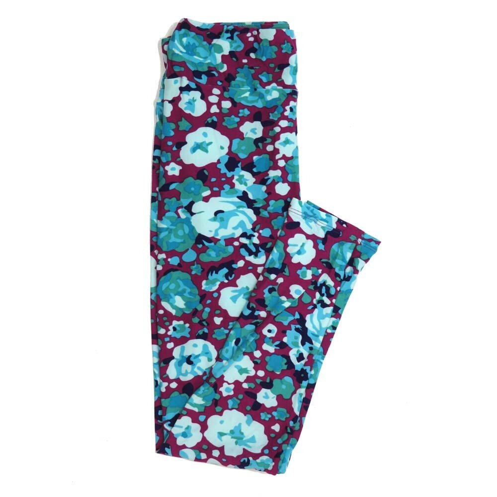 LuLaRoe One Size OS Floral Buttery Soft Womens Leggings fit Adult sizes 2-10  OS-4368-AN