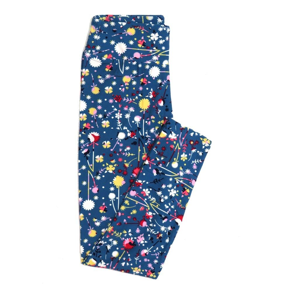 LuLaRoe One Size OS Floral Buttery Soft Womens Leggings fit Adult sizes 2-10  OS-4368-AP