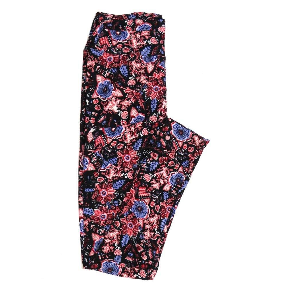 LuLaRoe One Size OS Floral Buttery Soft Womens Leggings fit Adult sizes 2-10  OS-4368-AW