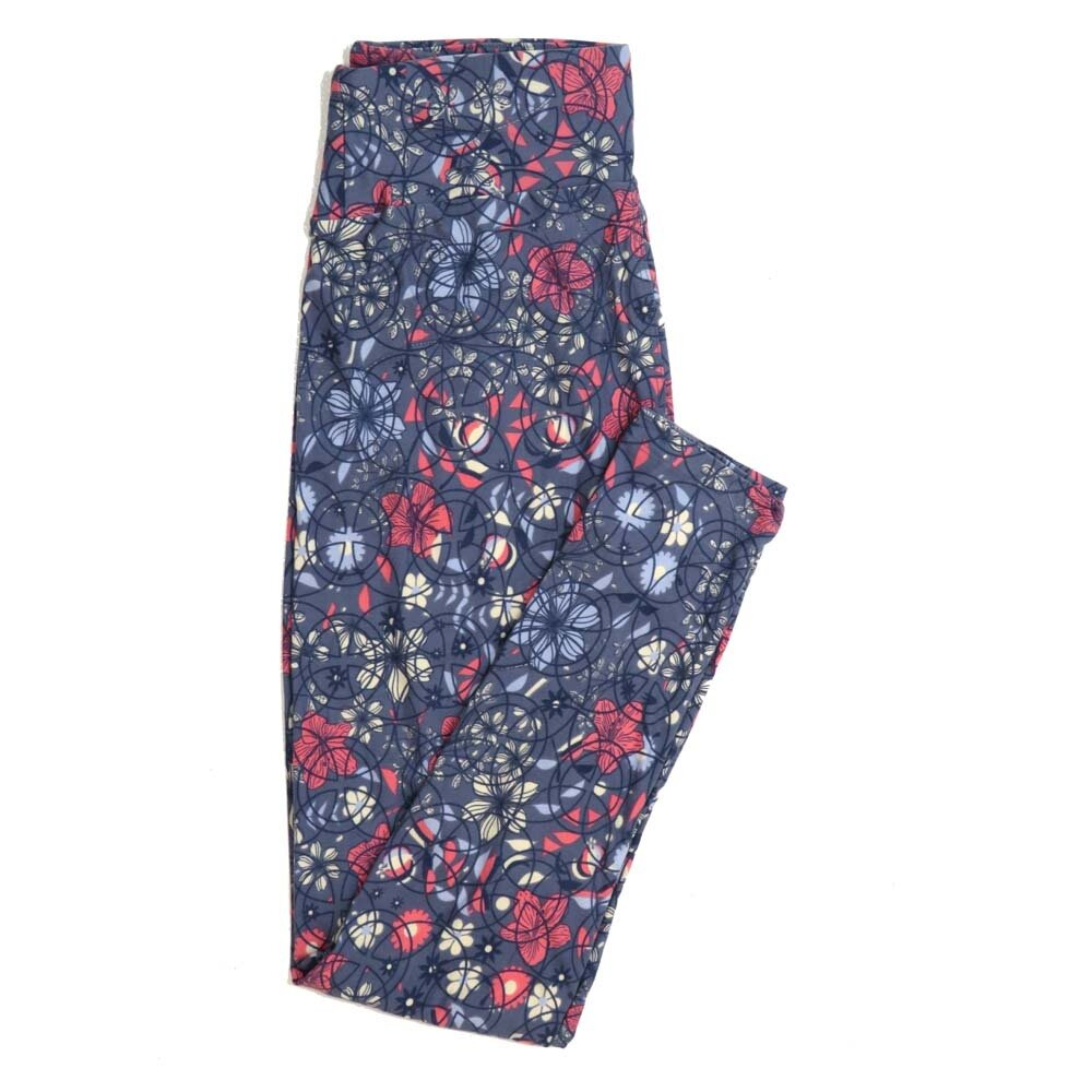 LuLaRoe One Size OS Floral Buttery Soft Womens Leggings fit Adult sizes 2-10  OS-4368-AX