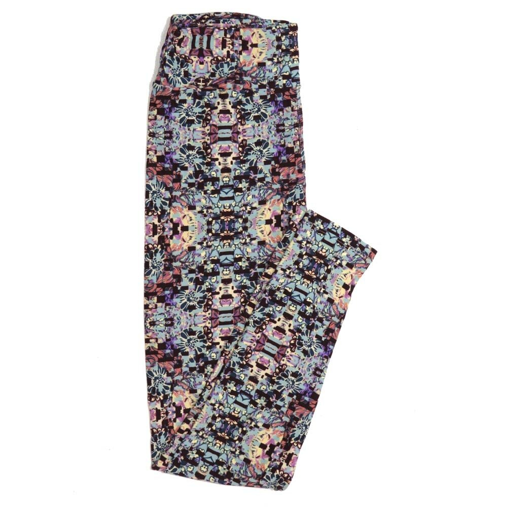 LuLaRoe One Size OS Floral Buttery Soft Womens Leggings fit Adult sizes 2-10  OS-4368-AY
