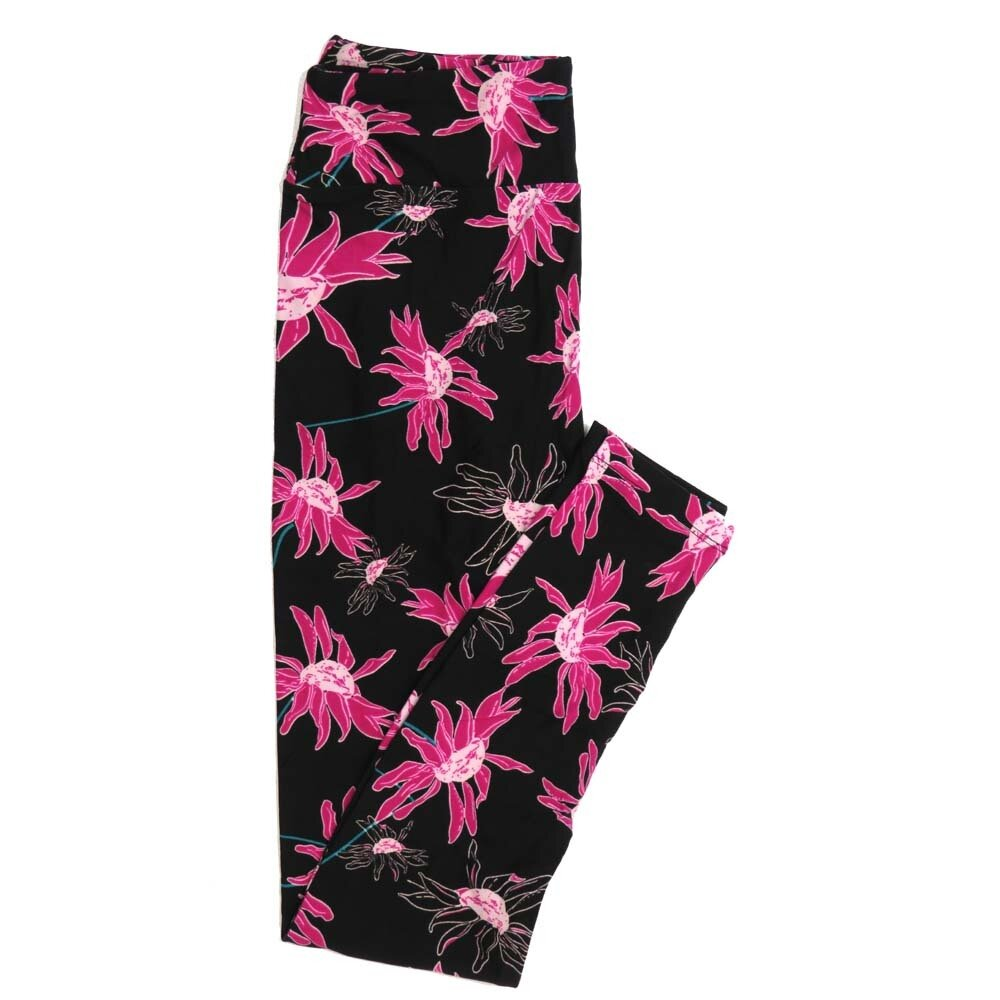 LuLaRoe One Size OS Floral Buttery Soft Womens Leggings fit Adult sizes 2-10  OS-4368-BA