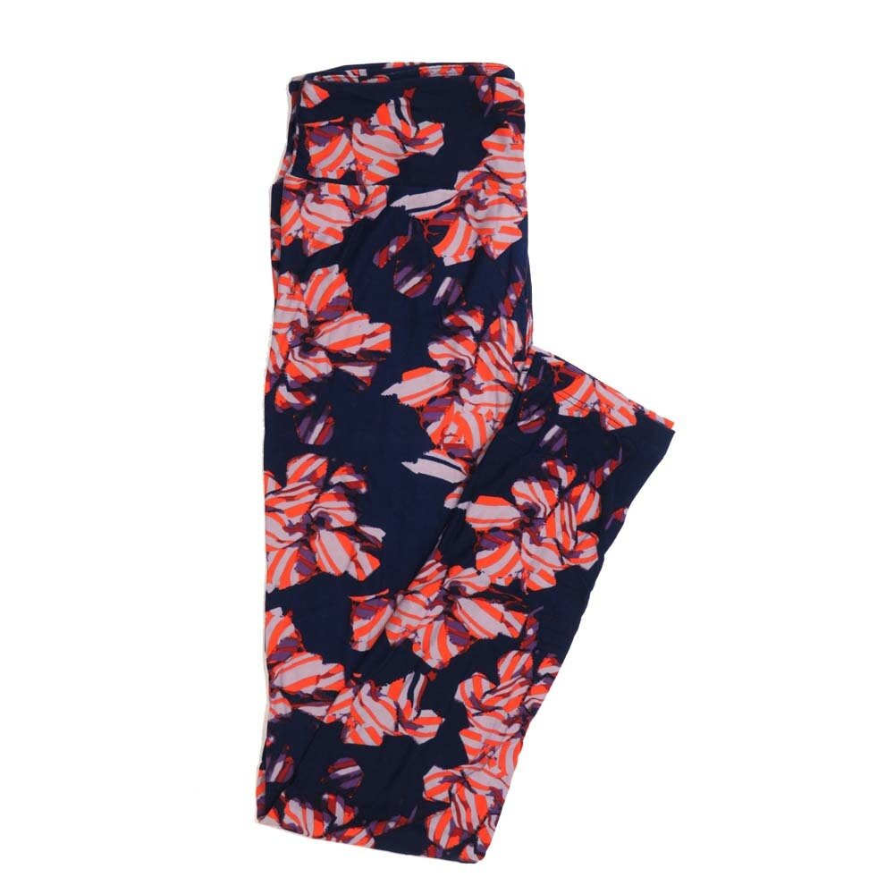 LuLaRoe One Size OS Floral Buttery Soft Womens Leggings fit Adult sizes 2-10  OS-4368-BE