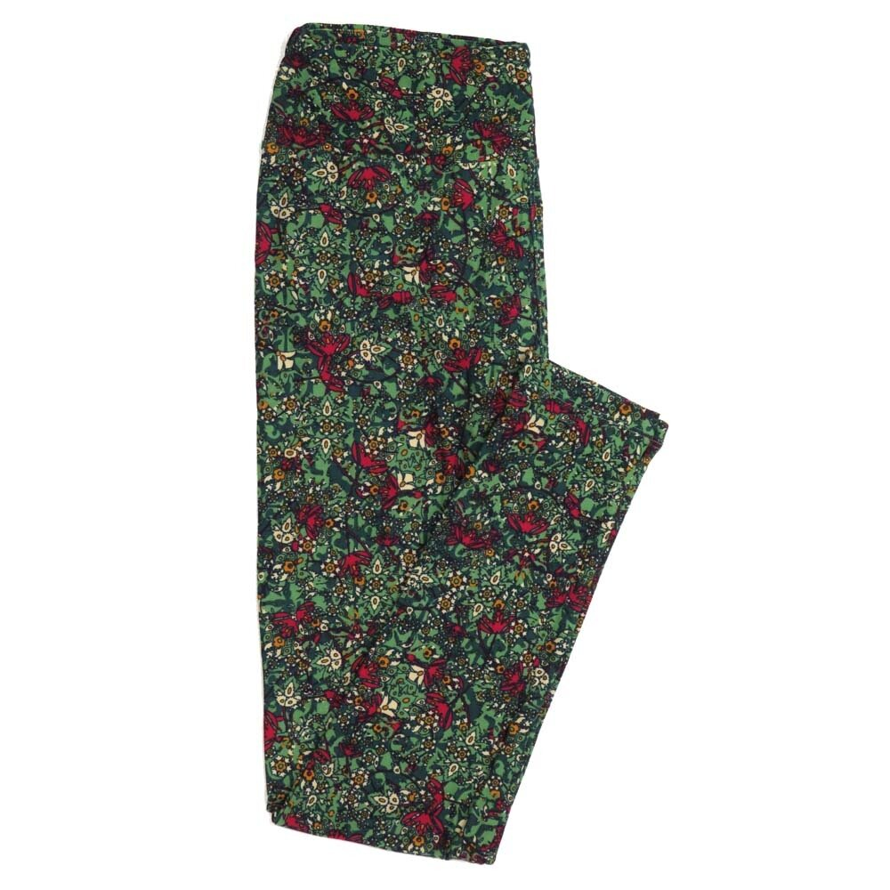 LuLaRoe One Size OS Floral Buttery Soft Womens Leggings fit Adult sizes 2-10  OS-4368-BH