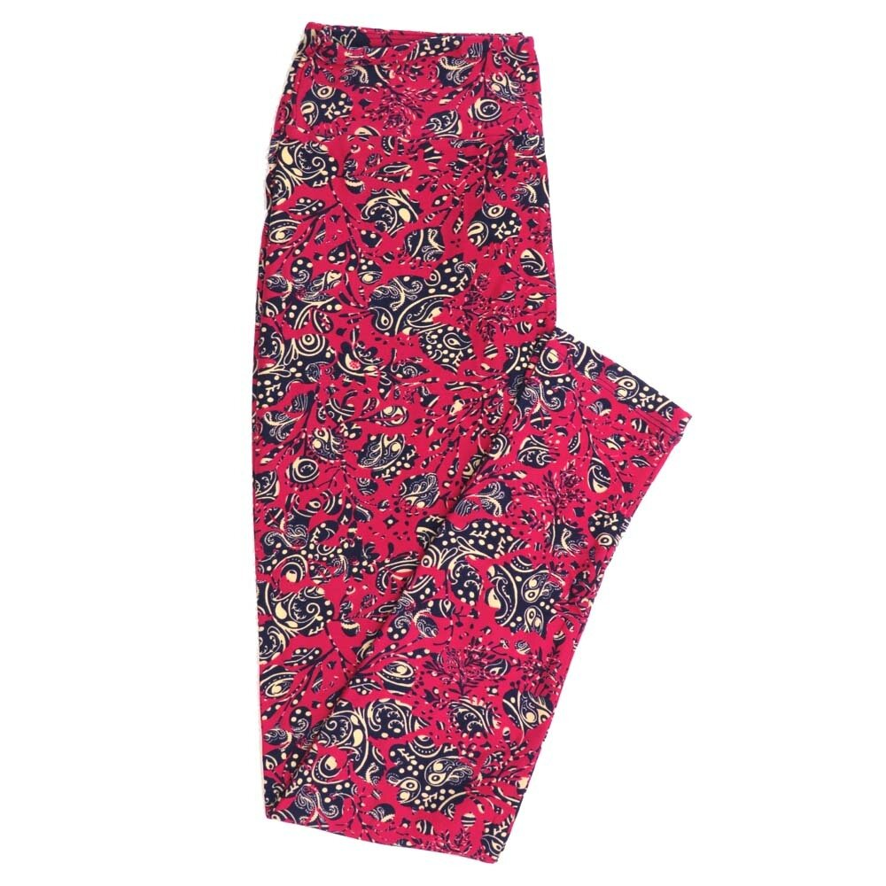 LuLaRoe One Size OS Paisley Buttery Soft Womens Leggings fit Adult sizes 2-10  OS-4369-AJ