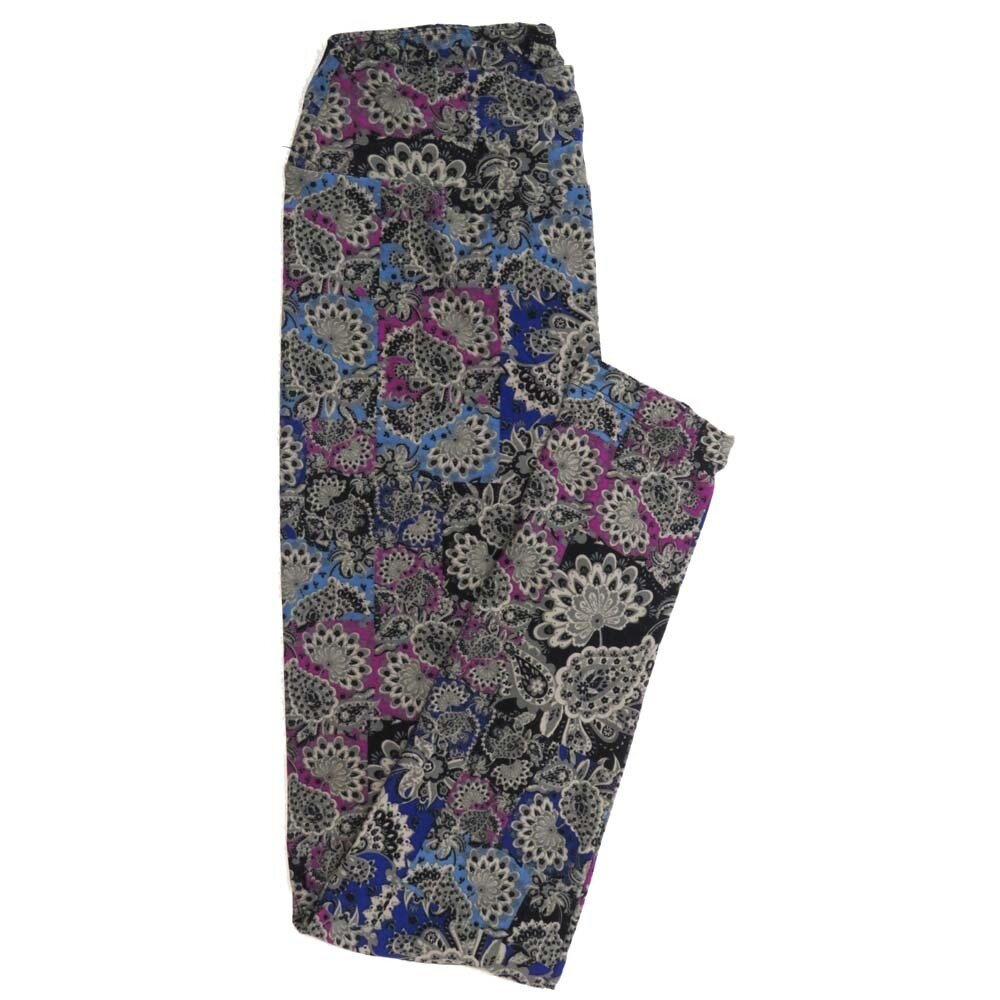 LuLaRoe One Size OS Paisley Peacock Buttery Soft Womens Leggings fit Adult sizes 2-10  OS-4369-AU