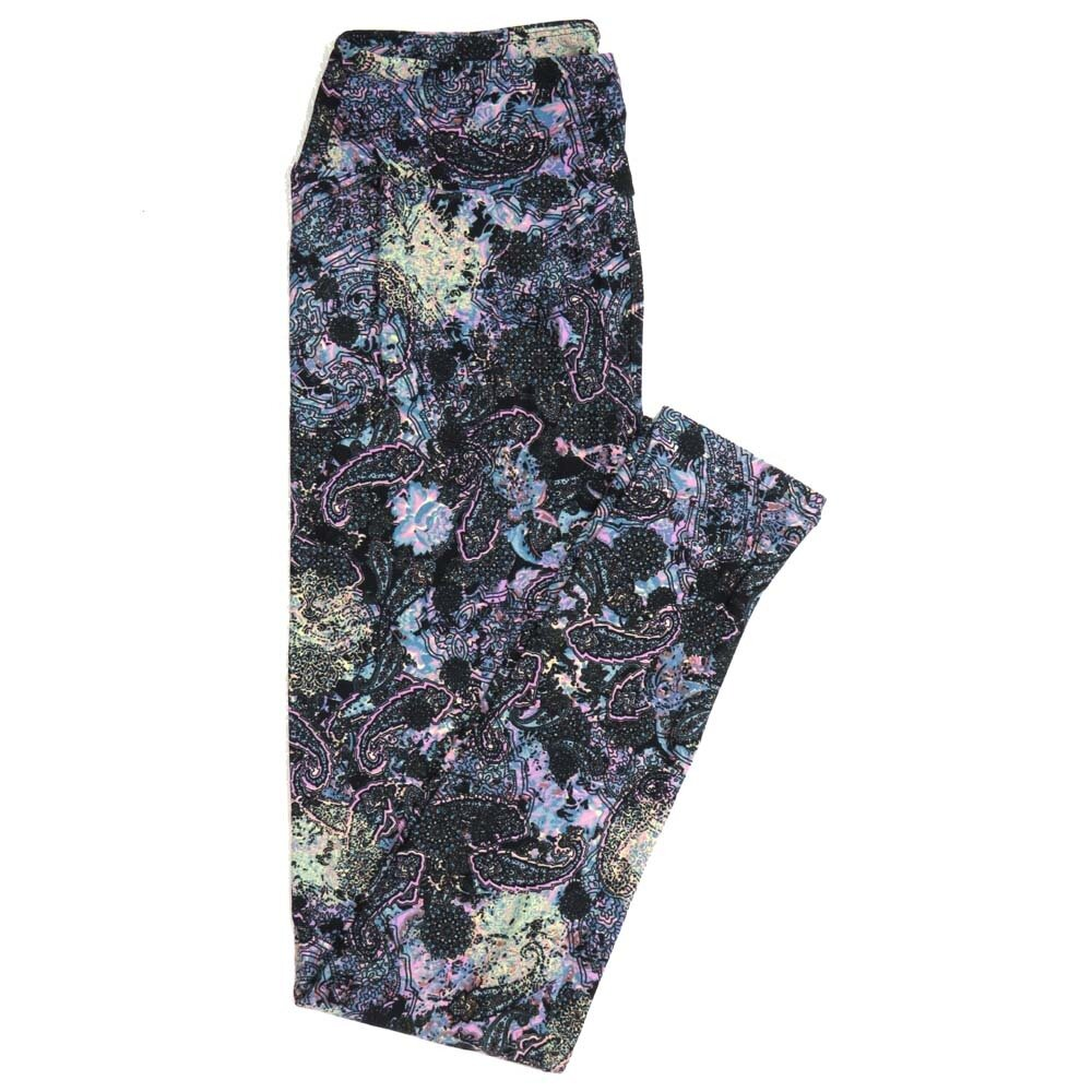 LuLaRoe One Size OS Paisley Floral Mandala Buttery Soft Womens Leggings fit Adult sizes 2-10  OS-4370-AA