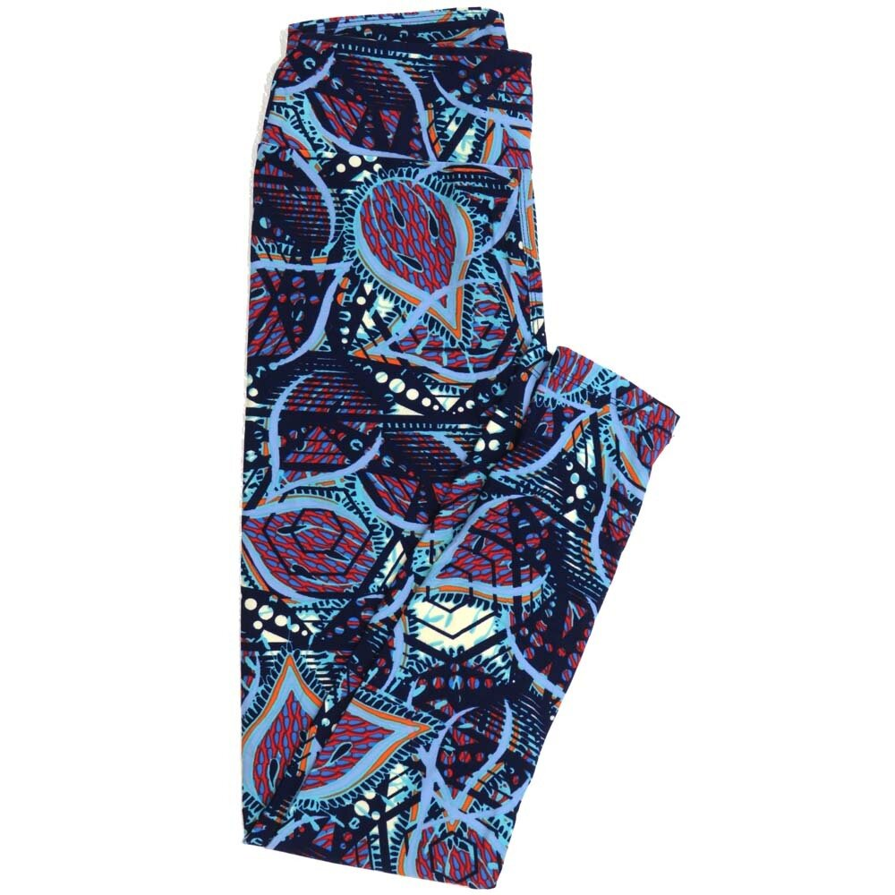 LuLaRoe One Size OS Paisley Stripe Buttery Soft Womens Leggings fit Adult sizes 2-10  OS-4370-AC