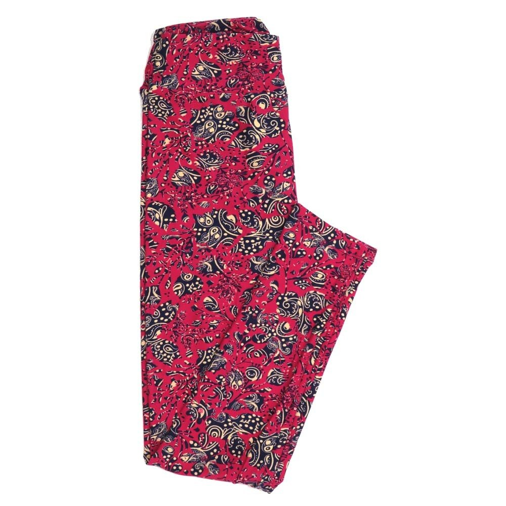 LuLaRoe One Size OS Paisley Geometric Buttery Soft Womens Leggings fit Adult sizes 2-10  OS-4370-AG