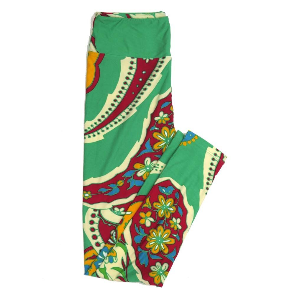 LuLaRoe One Size OS Paisley Very Big Buttery Soft Womens Leggings fit Adult sizes 2-10  OS-4370-AN