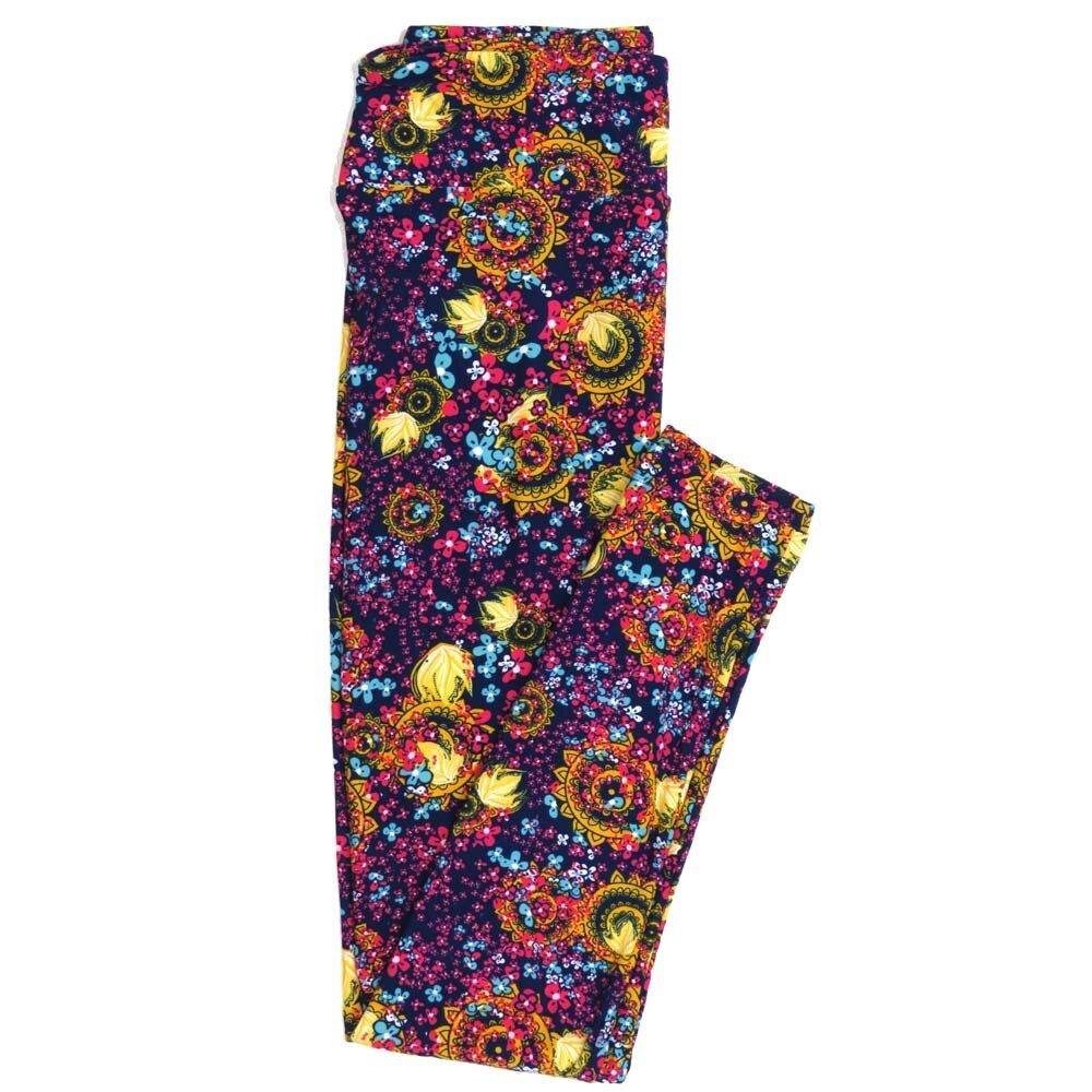LuLaRoe One Size OS Paisley Mandala Floral Buttery Soft Womens Leggings fit Adult sizes 2-10  OS-4370-AU