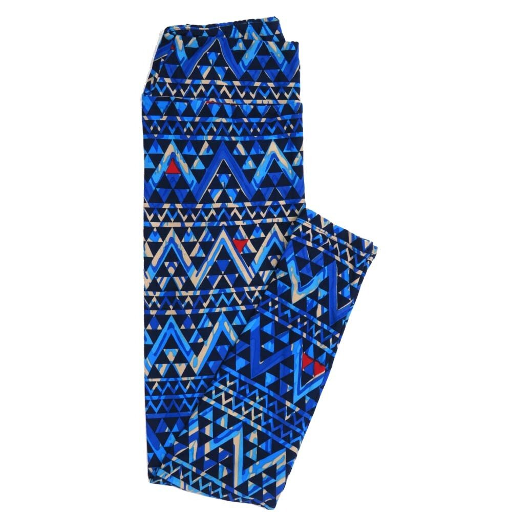LuLaRoe One Size OS Geometric Buttery Soft Womens Leggings fit Adult sizes 2-10  OS-4371-AO