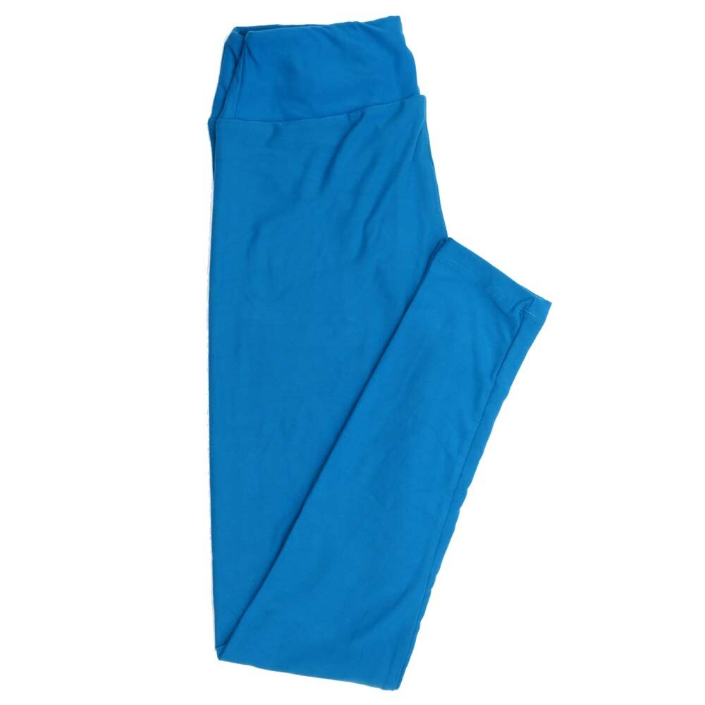 LuLaRoe One Size OS Solid Scuba BlueButtery Soft Womens Leggings fit Adult sizes 2-10  OS-4371-BC-SCUBABLUE