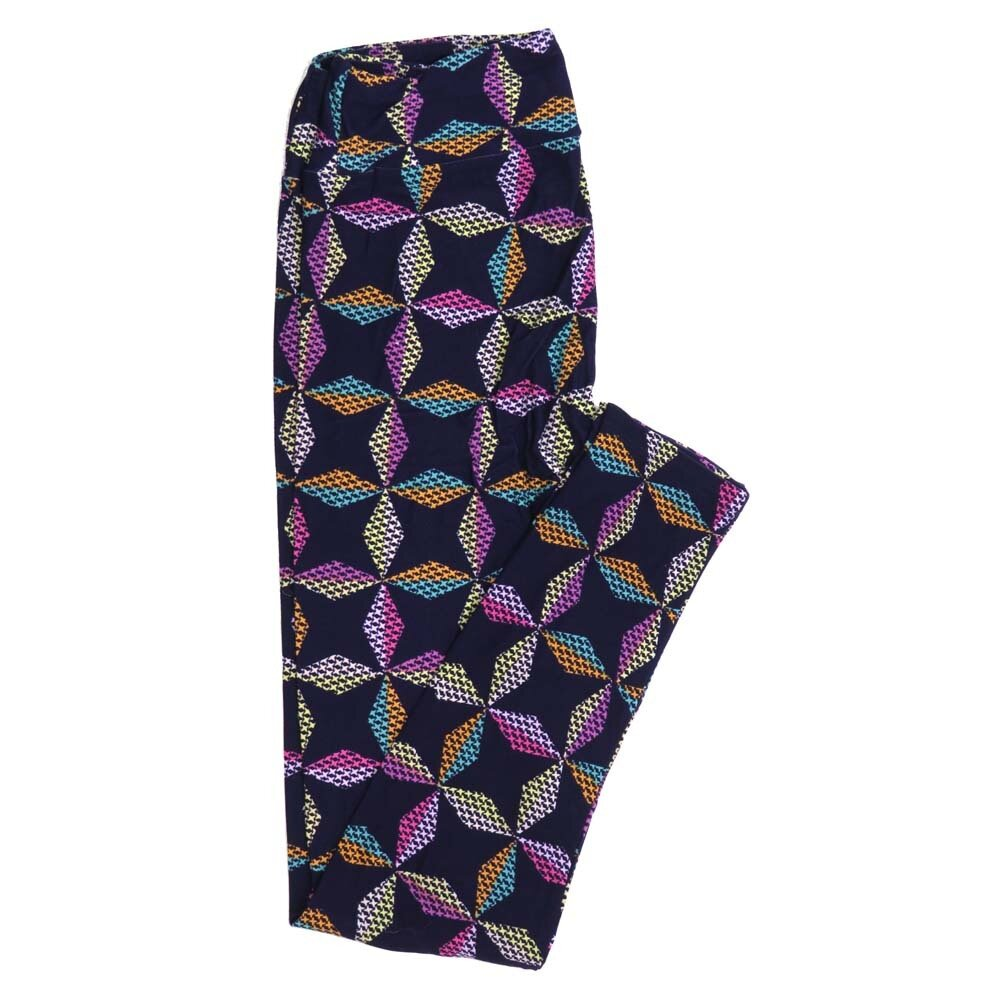 LuLaRoe One Size OS Geometric Buttery Soft Womens Leggings fit Adult sizes 2-10  OS-4372-AJ