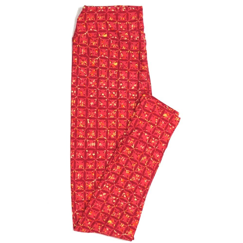 LuLaRoe One Size OS Geometric Buttery Soft Womens Leggings fit Adult sizes 2-10  OS-4372-AL
