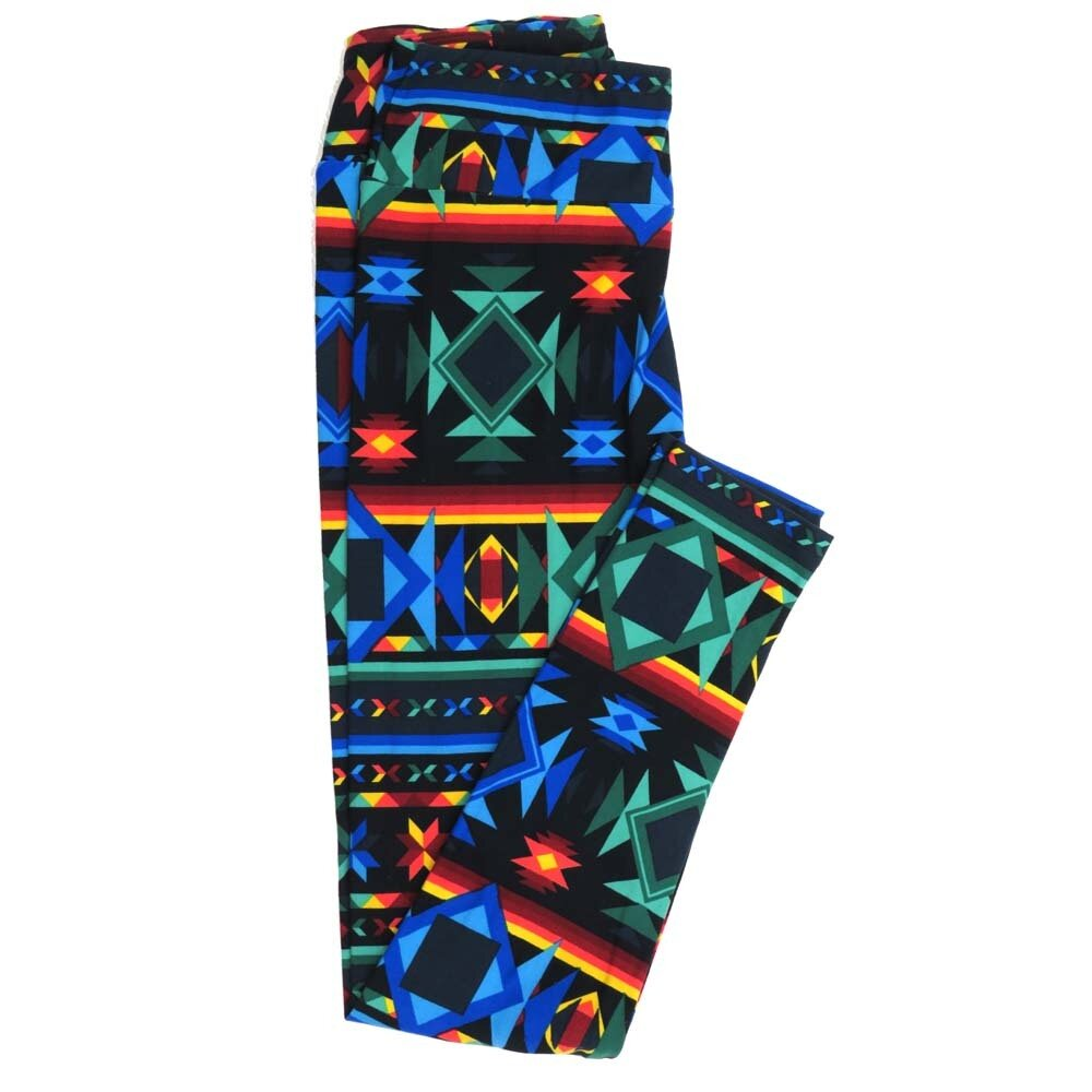LuLaRoe One Size OS Geometric Buttery Soft Womens Leggings fit Adult sizes 2-10  OS-4372-AP