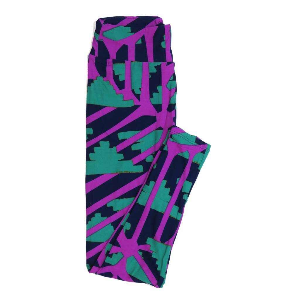 LuLaRoe One Size OS Geometric Buttery Soft Womens Leggings fit Adult sizes 2-10  OS-4372-AX