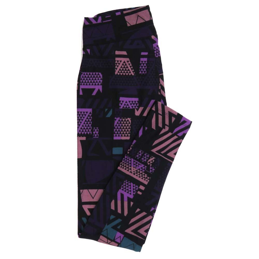 LuLaRoe One Size OS Geometric Buttery Soft Womens Leggings fit Adult sizes 2-10  OS-4372-AY