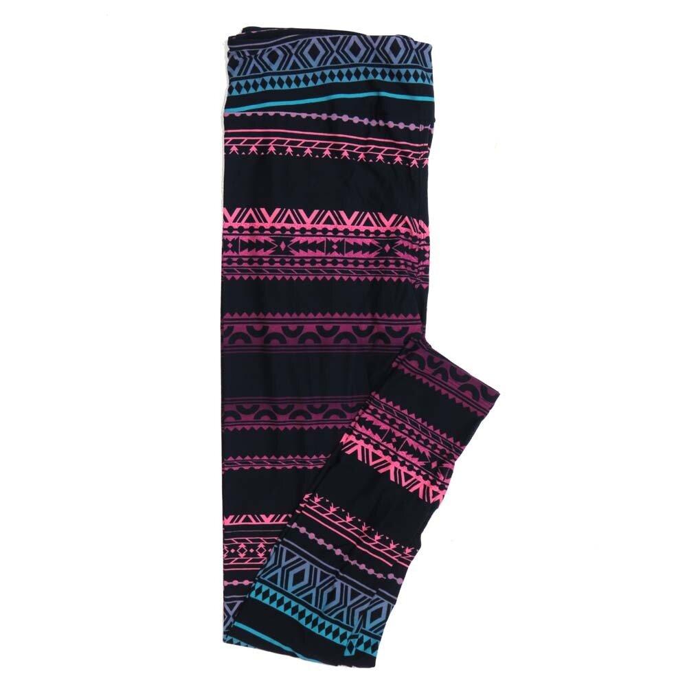 LuLaRoe Tall Curvy TC Navy Purple Pink Lavendar Teal Diamond Aztek Southwestern Stripe Buttery Soft Womens Leggings fits Adults sizes 12-18  TC-7303-20