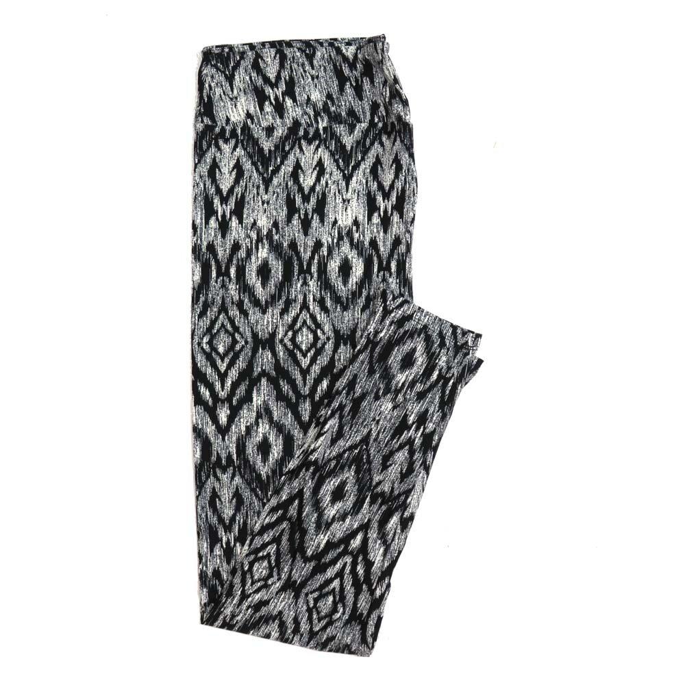 LuLaRoe Tall Curvy TC Black White God's Eye Diamond Geometric Buttery Soft Womens Leggings fits Adults sizes 12-18  TC-7315-29