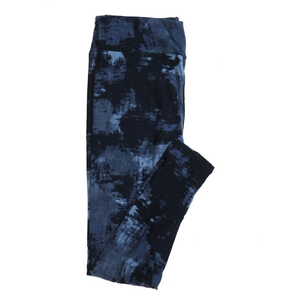 LuLaRoe Tall Curvy TC Blue Navy Abstract Tye Dye Buttery Soft Womens Leggings fits Adults sizes 12-18  TC-7318-2