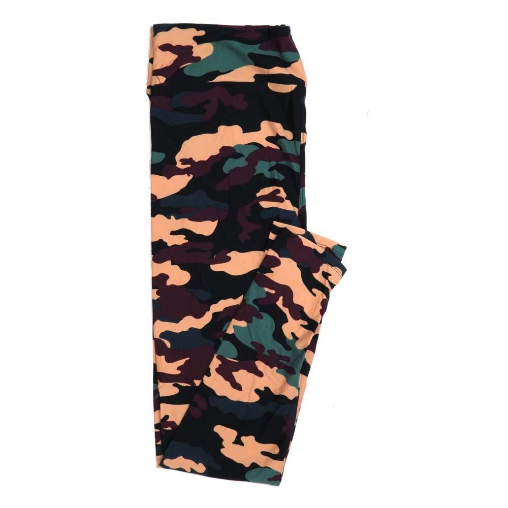 LuLaRoe Tall Curvy TC Light Black Pink Green Maroon Camoflage Buttery Soft Womens Leggings fits Adults sizes 12-18  TC-7330-16