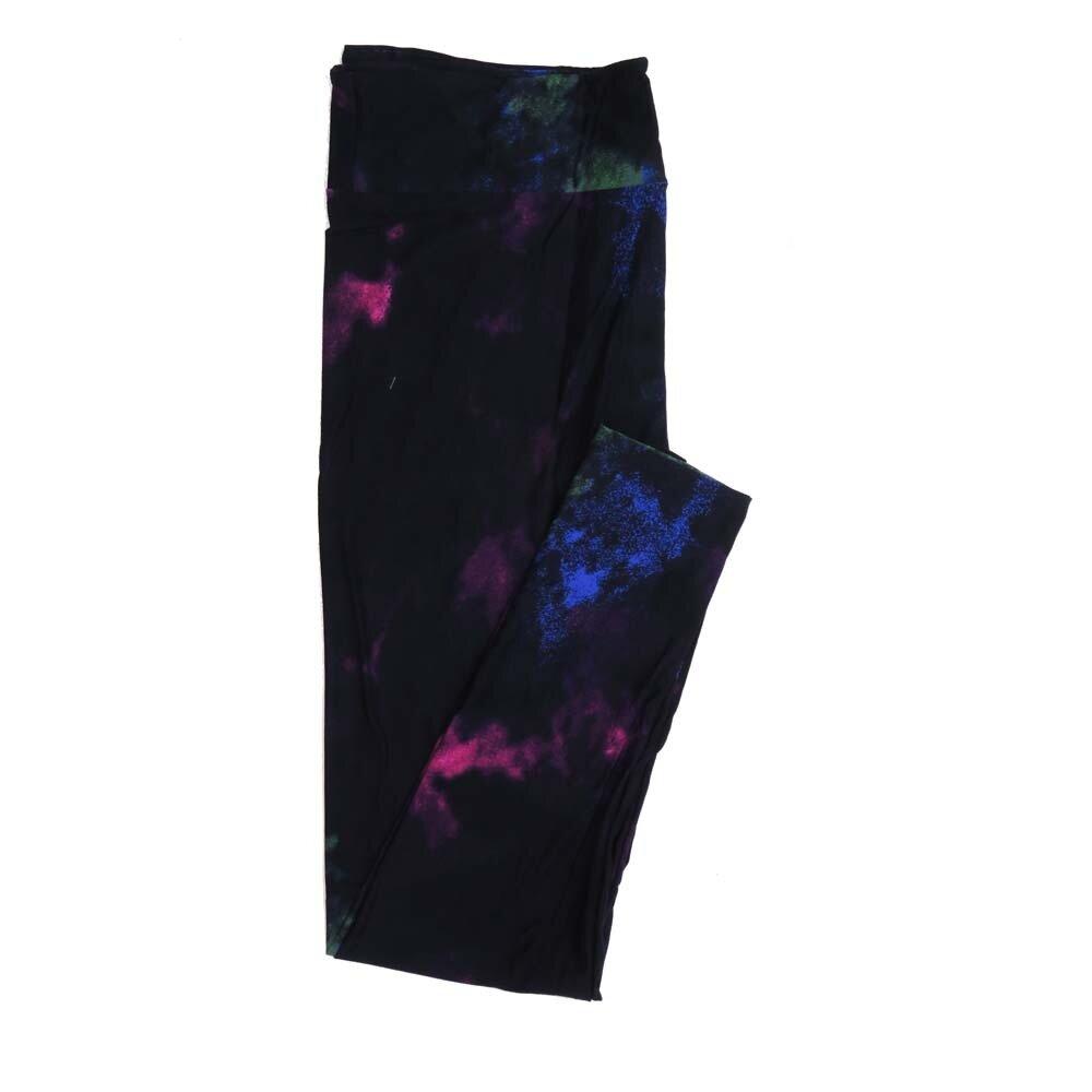 LuLaRoe Tall Curvy TC Dark Purple and Pruple Abstract Tye Dye Muted Buttery Soft Womens Leggings fits Adults sizes 12-18  TC-7331-15