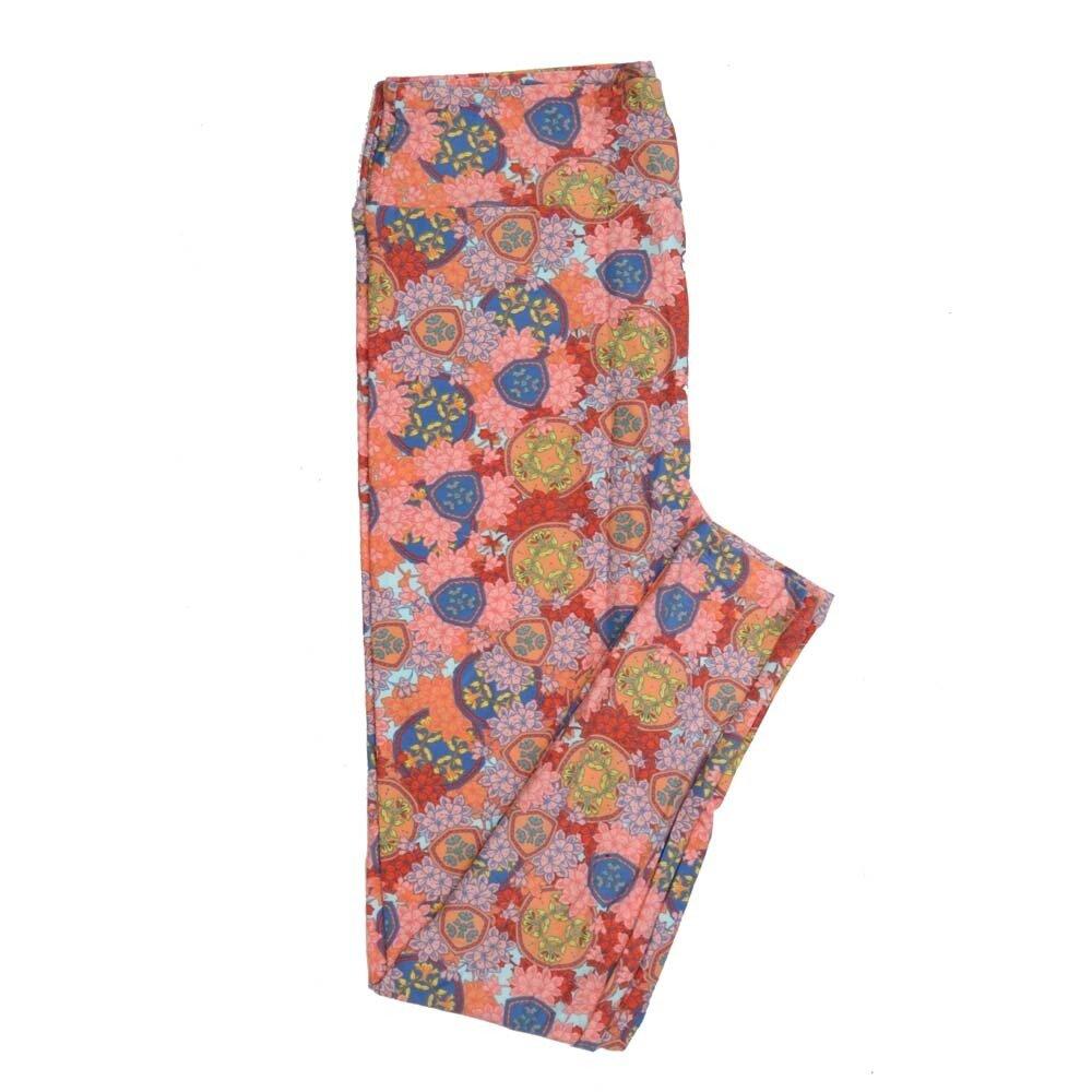 LuLaRoe Tall Curvy TC Mandalas Floral Buttery Soft Womens Leggings fits Adults sizes 12-18  TC-7350-I