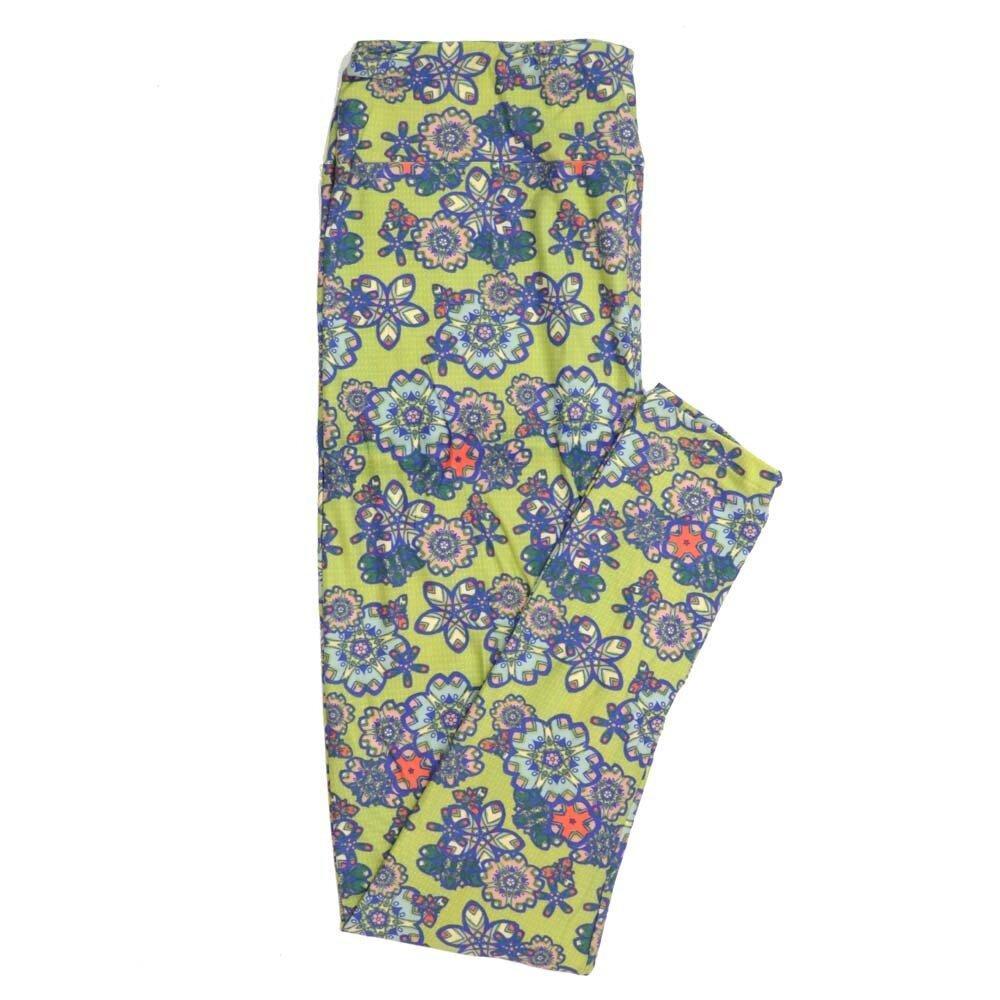 LuLaRoe Tall Curvy TC Floral Mandalas Daisies Pinwheels Buttery Soft Womens Leggings fits Adults sizes 12-18  TC-7350-P