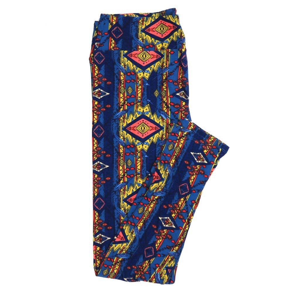 LuLaRoe Tall Curvy TC Gods Eye Feathers Southwestern Stripe Buttery Soft Womens Leggings fits Adults sizes 12-18  TC-7350-Q