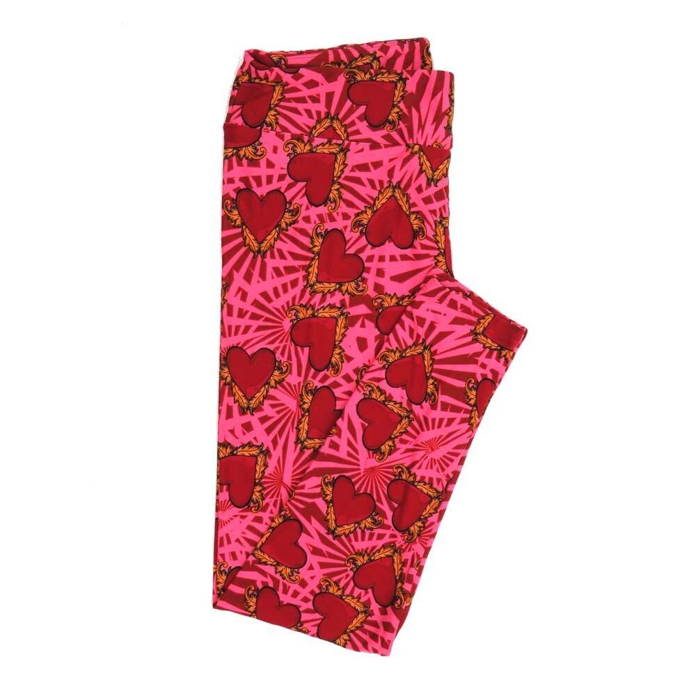 LuLaRoe Tall Curvy TC Valentines Adorned Hearts Buttery Soft Womens Leggings fits Adults sizes 12-18  TC-7354-K