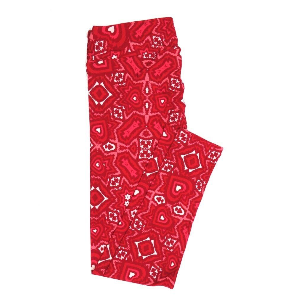 LuLaRoe Tall Curvy TC Valentines Trippy Hypnotic Hearts Buttery Soft Womens Leggings fits Adults sizes 12-18  TC-7354-Q