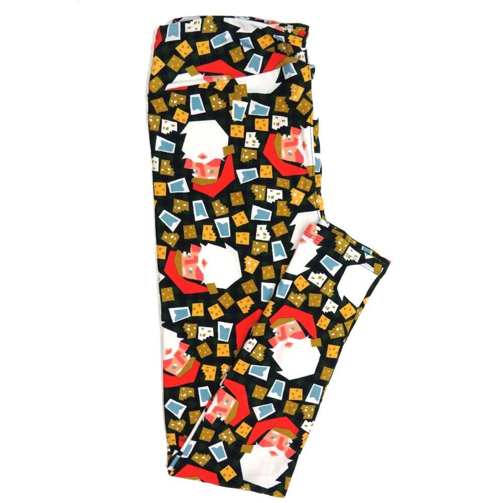 LuLaRoe Tall Curvy TC Christmas Holiday Santa Claus Presents Buttery Soft Womens Leggings fits Adults sizes 12-18  TC-7355-D